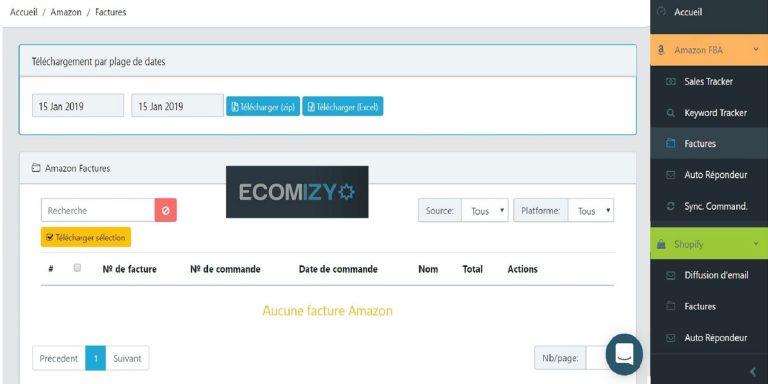 Test outil de commerce en ligne Ecomizy et avis d'utilisateur