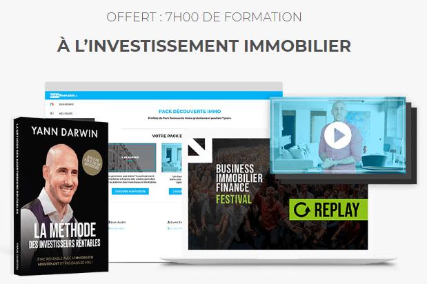OFFERT : 7H00 DE FORMATION À L'INVESTISSEMENT IMMOBILIER